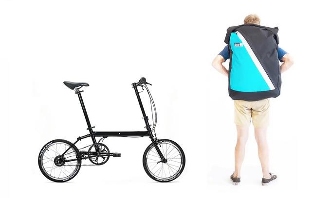 スーツケースに収納可能な超軽量折りたたみ自転車 背負えるミニベロ「pakiT Elite」