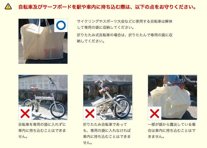 JR西日本輪行規定